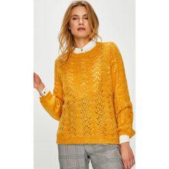 Only - Sweter. Szare swetry damskie Only, z dzianiny, z okrągłym kołnierzem. Za 129.90 zł.