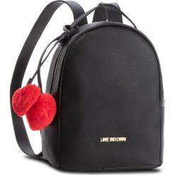 Plecak LOVE MOSCHINO - JC4323PP06KW0000  Nero. Czarne plecaki damskie Love Moschino, ze skóry ekologicznej, eleganckie. Za 719.00 zł.