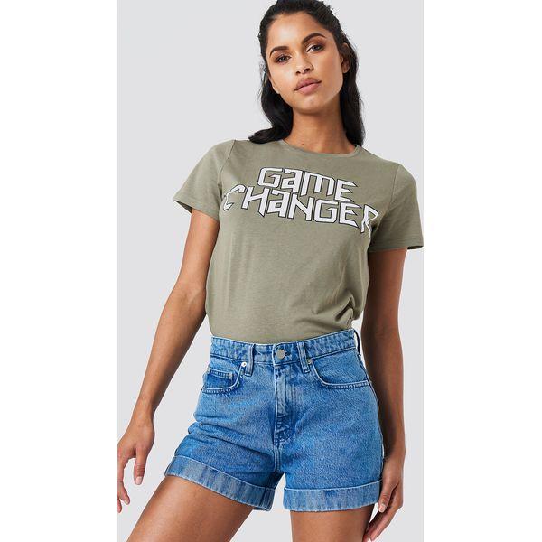 936e0097 NA-KD Szorty jeansowe z wysokim stanem - Blue