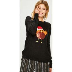 Answear - Sweter. Brązowe swetry damskie ANSWEAR, z dzianiny, z okrągłym kołnierzem. Za 99.90 zł.
