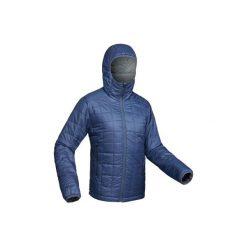 Kurtka trekkingowa Trek 100 męska. Niebieskie kurtki męskie FORCLAZ. Za 149.99 zł.