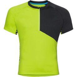 Odlo Koszulka rowerowa Stand-up collar s/s 1/2 zip Morzine zielono-czarna r. L (411512). Koszulki sportowe męskie Odlo. Za 183.43 zł.