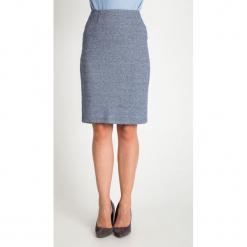 Melanżowa niebieska ołówkowa spódnica QUIOSQUE. Niebieskie spódnice damskie QUIOSQUE, na zimę, biznesowe. Za 139.99 zł.