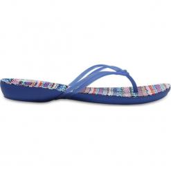 """Japonki """"Isabella"""" w kolorze niebieskim ze wzorem. Klapki męskie marki Birkenstock. W wyprzedaży za 64.95 zł."""