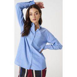 Rut&Circle Batystowa koszula Selma - Blue. Niebieskie koszule damskie Rut&Circle, z bawełny. W wyprzedaży za 48.78 zł.