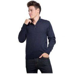 William De Faye Sweter Męski Xl Ciemny Niebieski. Niebieskie swetry przez głowę męskie William de Faye, z kaszmiru. Za 289.00 zł.