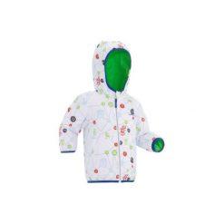 Kurtka na sanki Warm Reverse dla maluchów. Zielone kurtki męskie WED'ZE, z nadrukiem, z materiału. Za 99.99 zł.