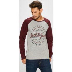 Jack & Jones - Bluza. Szare bluzy męskie Jack & Jones, z nadrukiem, z bawełny. W wyprzedaży za 99.90 zł.