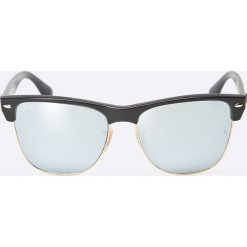 Ray-Ban - Okulary Clubmaster Oversized. Szare okulary przeciwsłoneczne męskie Ray-Ban, z materiału. Za 599.90 zł.