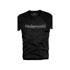 T-shirt UNDERWORLD Organic Cotton Since 1979. Czarne t-shirty męskie Underworld, z nadrukiem, z bawełny. Za 69.99 zł.