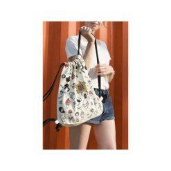 Plecak GRZYBY. Białe plecaki damskie Dwie lewe ręce, z nadrukiem, z bawełny. Za 179.00 zł.