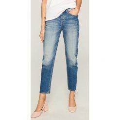 Jeansy regular fit - Niebieski. Niebieskie jeansy damskie Reserved. Za 99.99 zł.