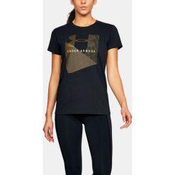 Under Armour Koszulka damska SPORTSTLE MESH LOGO CREW czarna r. M (1310488-001). T-shirty damskie Under Armour, z meshu. Za 66.00 zł.