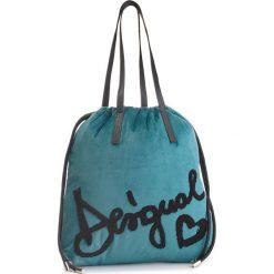Torebka DESIGUAL - 18WAXF89 4031. Niebieskie torebki do ręki damskie Desigual, z materiału. W wyprzedaży za 209.00 zł.
