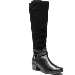 Kozaki CAPRICE - 9-25608-21 Black Comb 019. Czarne kozaki damskie Caprice, z materiału. W wyprzedaży za 399.00 zł.