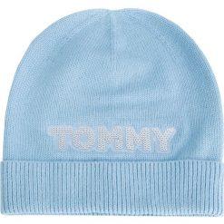 Czapka TOMMY HILFIGER - Patch Knit Bea AW0AW06184 499. Niebieskie czapki i kapelusze męskie Tommy Hilfiger. Za 179.00 zł.