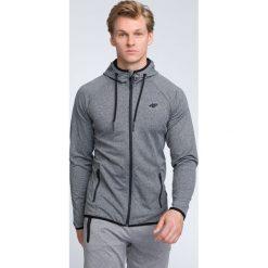 Bluza męska BLM004 - ciemny szary melanż. Szare bluzy męskie 4f, melanż, z elastanu. W wyprzedaży za 139.99 zł.