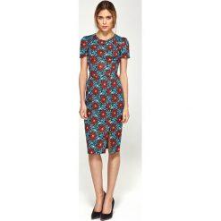 Sukienka dopasowana krótki rękaw s97. Szare sukienki damskie Nife, biznesowe, z krótkim rękawem. Za 169.00 zł.