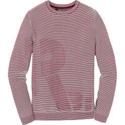 Sweter Regular Fit bonprix bordowy w paski. Swetry przez głowę męskie marki Giacomo Conti. Za 49.99 zł.