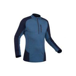 Koszulka trekkingowa długi rękaw Trek 900 wool męska. Brązowe bluzki z długim rękawem męskie FORCLAZ, z wełny. Za 169.99 zł.