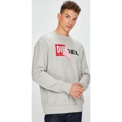 Diesel - Bluza. Szare bluzy męskie Diesel, z nadrukiem, z bawełny. Za 449.90 zł.