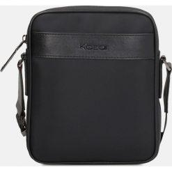 Czarna torba męska. Czarne torby na ramię męskie Kazar, w paski, ze skóry ekologicznej. Za 299.00 zł.