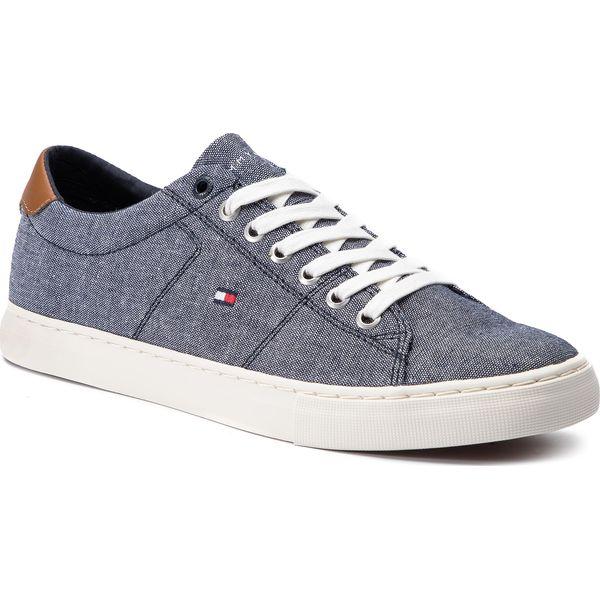 5c93780c901 Tenisówki TOMMY HILFIGER - Seasonal Textile Sneaker FM0FM02204 Midnight 403