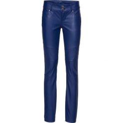 Spodnie biker ze sztucznej skóry bonprix kobaltowy. Niebieskie spodnie materiałowe damskie bonprix, ze skóry. Za 124.99 zł.
