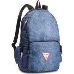 Plecak GUESS - HM6525 NYL84 DEN. Niebieskie plecaki damskie Guess, z aplikacjami, z materiału, sportowe. Za 279.00 zł.