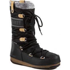 Śniegowce MOON BOOT - Monaco Felt 24003200003 Nero/Black. Czarne kozaki damskie Moon Boot, z materiału. Za 649.00 zł.
