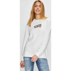 Nike Sportswear - Bluza. Szare bluzy damskie Nike Sportswear, z nadrukiem, z bawełny. Za 259.90 zł.