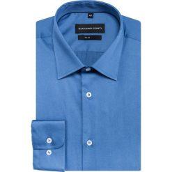 Koszula SIMONE KDNS000165. Niebieskie koszule męskie Giacomo Conti, z bawełny, z klasycznym kołnierzykiem, z długim rękawem. Za 169.00 zł.