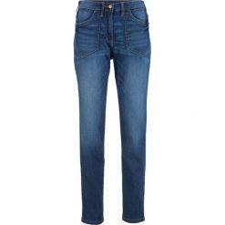 """Dżinsy ze stretchem z wysoką talią bonprix niebieski """"stone"""". Niebieskie jeansy damskie bonprix. Za 109.99 zł."""