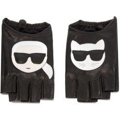 Rękawiczki Damskie KARL LAGERFELD - 86KW3605 Black 999. Czarne rękawiczki damskie KARL LAGERFELD, ze skóry. Za 459.00 zł.