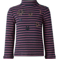 Golf w kolorze czarno-różowym. Swetry dla dziewczynek marki bonprix. W wyprzedaży za 42.95 zł.