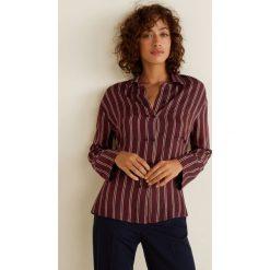 Mango - Koszula Lunita3. Brązowe koszule damskie Mango, w paski, z materiału, z długim rękawem. Za 199.90 zł.