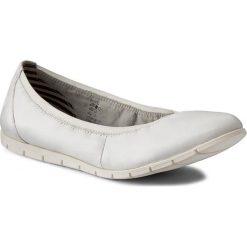 Półbuty TAMARIS - 1-22109-28 White Leather 117. Białe półbuty damskie Tamaris, ze skóry. W wyprzedaży za 149.00 zł.