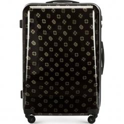 Walizka duża 56-3A-333-10. Brązowe walizki damskie Wittchen, z nadrukiem, z gumy. Za 199.00 zł.