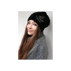 Czapka CHAPOOSIE BlackFur & Frozen Flowers. Czarne czapki i kapelusze damskie Chapoosie. Za 134.10 zł.