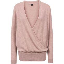 Sweter kopertowy bonprix stary jasnoróżowy. Swetry damskie marki bonprix. Za 74.99 zł.