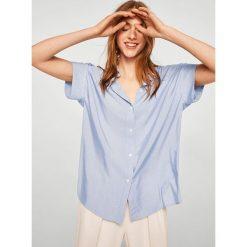 Mango - Koszula Line. Szare koszule damskie Mango, z krótkim rękawem. W wyprzedaży za 79.90 zł.
