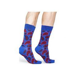 Skarpetki Happy Socks  PAI01-6002. Czerwone skarpety męskie Happy Socks, z bawełny. Za 24.43 zł.