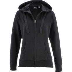 Bluza rozpinana bonprix czarny. Czarne bluzy damskie bonprix, w paski. Za 59.99 zł.