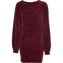 Długi sweter z szenili bonprix czerwony klonowy. Swetry damskie marki KALENJI. Za 69.99 zł.