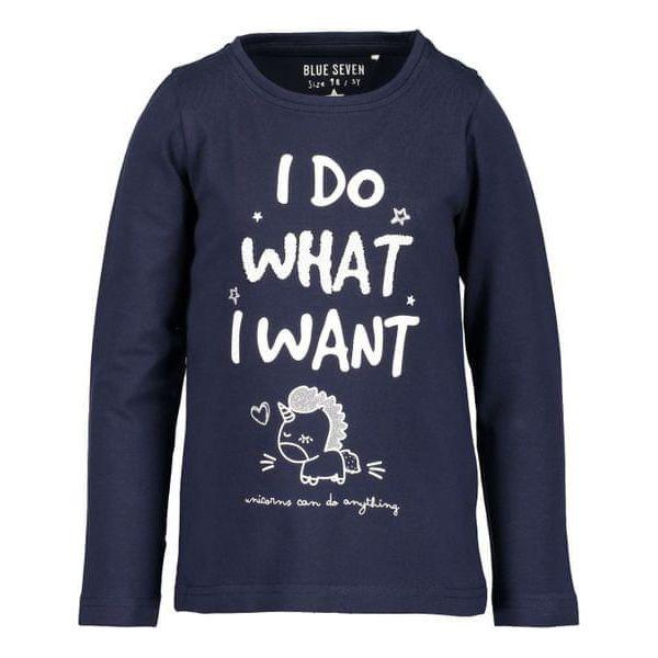 248d14848bed6d Blue Seven Koszulka Dziewczęca Z Napisem 116 Niebieska - Bluzki dla ...