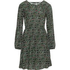 Sukienka z efektem marszczenia bonprix ciemnooliwkowy. Zielone sukienki damskie bonprix, z dekoltem w serek. Za 89.99 zł.