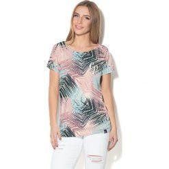 Colour Pleasure Koszulka damska CP-034  280 szaro-błękitno-różowa  r.  XS-S. T-shirty damskie Colour Pleasure. Za 70.35 zł.