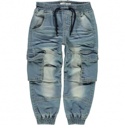 """Dżinsy """"Romeo"""" w kolorze niebieskim. Niebieskie jeansy dla chłopców Name it Baby. W wyprzedaży za 69.95 zł."""