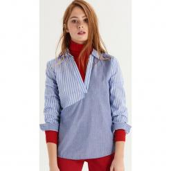 Koszula w nieregularne prążki - Niebieski. Niebieskie koszule damskie Sinsay, w prążki. Za 69.99 zł.