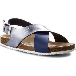 Sandały PEPE JEANS - Bio Cross PGS90098 Electric Blu 554. Sandały dziewczęce Pepe Jeans, z jeansu. W wyprzedaży za 159.00 zł.
